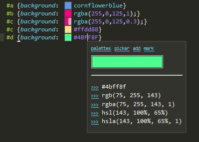 SublimeTextのカラー関係はColor Helperが一番使いやすかった