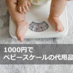 1000円でベビースケールの代用品